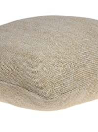 Casual Oatmeal Tweed Accent Pillow Cover - Brown - Back