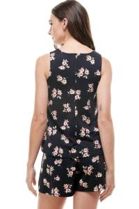 Loungewear Set Floral Print Pajama - Back