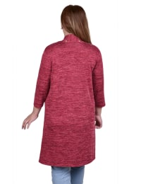 3/4 Sleeve Cardigan With Grommets - Plus - Back