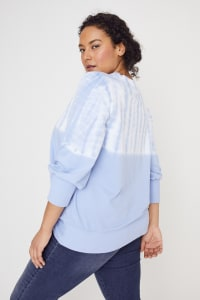 Westport Tie Dye Side Knot Sweater - Plus - Regatta Blue - Back