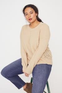 Westport Novelty Back Pullover Sweater - Plus - Neutral - Back