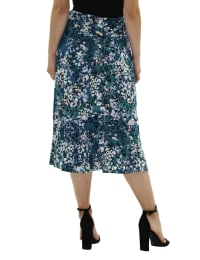 A Line Pull On Skirt - Petite - Emerald Vibeskin - Back