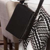 Andrew Leather Messenger Bag - Black - Back