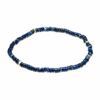 Jean Claude 4.1-4.5 mm Multicolored Randel Agate Lapis Lazuli and Turquoise Beads mix Spiritual and Stretchable Bracelet - Multicolor - Back