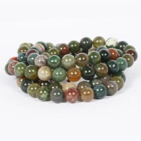 Jean Claude 8mm Multi Wrapped / Multicolor 108 Agate Beads ,Stretchable , Spiritual and Healing Bracelet - Multi - Back