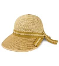 Two Tone Braided Straw Ribbon Garden Hat - Back