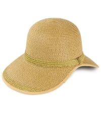 Metallic Straw Open Back Straw Garden Hat - Back
