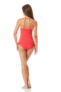 Anne Cole High Neck Tankini Top - Sorbet - Back
