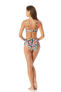 Anne Cole Under Wire Twist Front Bikini Swimsuit Top - Multi - Back
