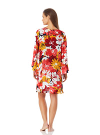 Anne Cole Flounce V Neck Tunic Cover Up - Back