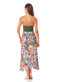 Anne Cole Ring Sarong Cover-Up Skirt - Multi - Back