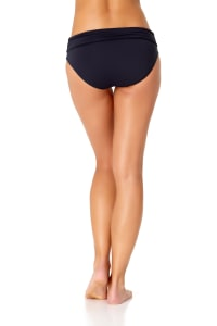 Anne Cole Convertible Shirred Bottom - Navy - Back