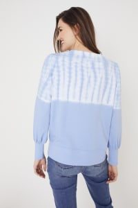 Westport Tie Dye Side Knot Sweater - Regatta Blue - Back
