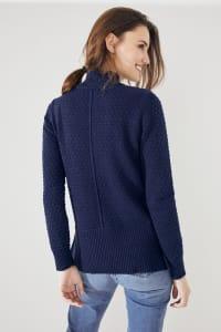 Roz & Ali Crochet Tunic Sweater - Back