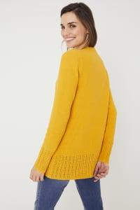 Westport V-Neck Sweater Tunic - Goldenrod - Back