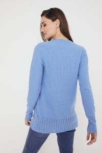 Westport V-Neck Sweater Tunic - Lake Shore - Back
