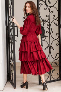 Wild West Midi Dress - Ruby - Back
