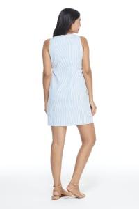 Robin Lace Trim Seersucker Shift Dress - Back