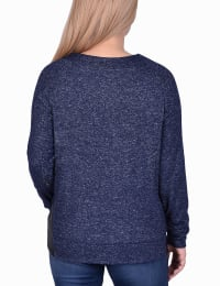 Long Sleeve Lacing Detail Pullover - Back