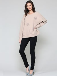 Serena Sweater - Tan - Back