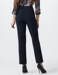 Roz & Ali Secret Agent Pull On Tummy Control Pants with L Pockets - Petite - Navy - Back