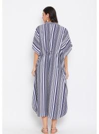 Button Kaftan Dress for Women - Plus - Back