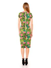 Bella Cap Sleeve Keyhole Sheath Dress - Back