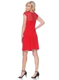 Pelagia Short Sleeve Lace Dress - Back
