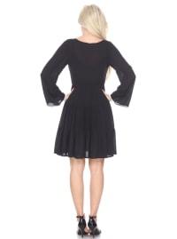Anema Long Sleeve Embroidered Dress - Back