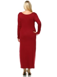 Ria Long Sleeve Maxi Dress - Plus - Back