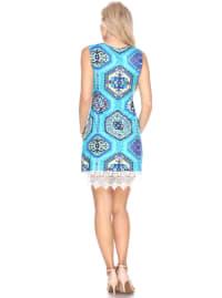 Thea Lace Hemline Tunic Dress - Back