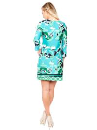 Miranda Bell Sleeve Round Neck Dress - Back