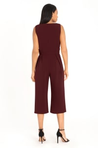 Harper Scuba Cropped Jumpsuit - Petite - Back