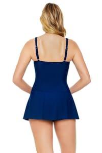 Below Deck Women Insert Skater Swimdress  - Plus - Navy - Back