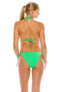 CaCelin Classic Triangle Bikini Swimsuit - Green - Back