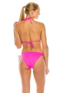 CaCelin Classic Triangle Bikini Swimsuit - Hot Pink - Back