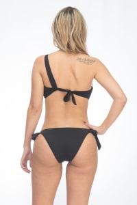 CaCelin Asymmetrical Two-Piece Bikini Swimsuit - Black - Back