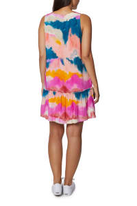 Caribbean Joe Ruffle Bottom Dress - Light Pink - Back