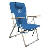 Caribbean Joe High Weight Capacity Chair - Blue - Back