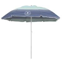 Caribbean Joe 6 ft. Beach Umbrella with UV - Horizon Stripe - Back