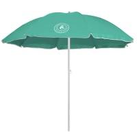 Caribbean Joe 6 ft. Beach Umbrella with UV - Mint - Back