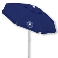 Caribbean Joe 6.5 ft. Beach Umbrella with UV - Navy - Back