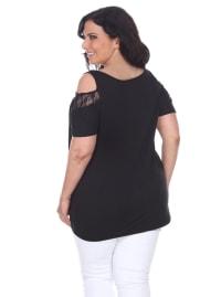 Bexley Short Sleeve Tunic Top - Plus - Back