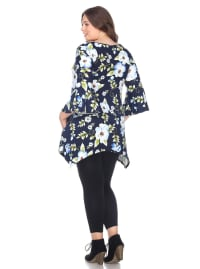 Blanche 3/4 Sleeve Tunic Top - Plus - Back