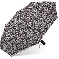 Nicole Miller Rain Umbrella - Black / White - Back