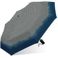 Nicole Miller Rain Umbrella - Blue Tie Dye Stripe - Back