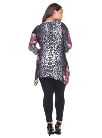 Marlene 3/4 Sleeve Tunic Top - Plus - Back
