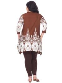 3/4 Sleeve Vibrant Dulce Tunic Top - Plus - Back