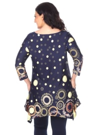 Erie 3/4 Sleeve Tunic Top - Plus - Back