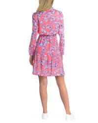 Gigi Parker 3 Quarter Sleeve Tiered Dress - Back